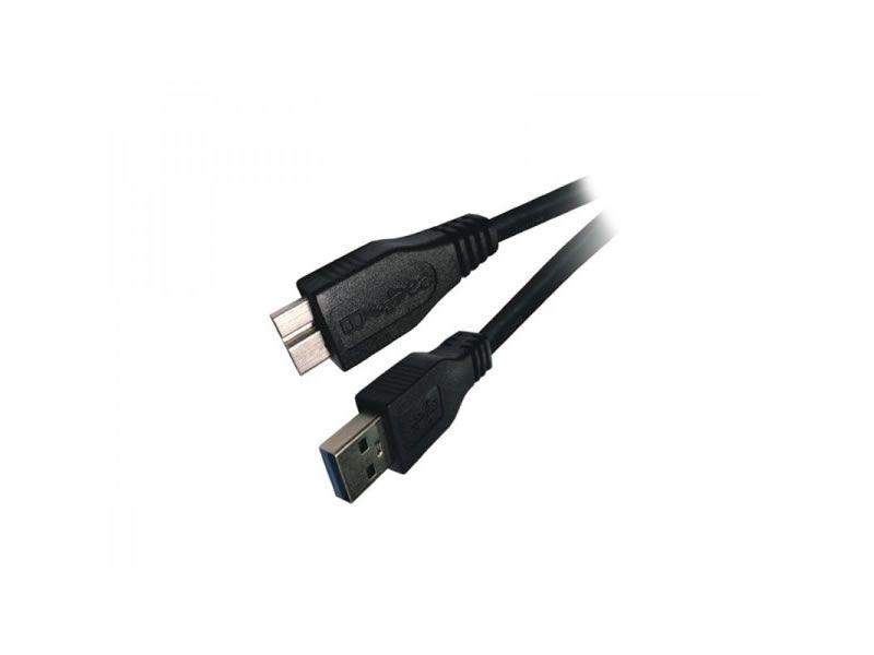 CAVO USB 3.0 A-MICRO B 2MT M/M BK ADJ foto 2