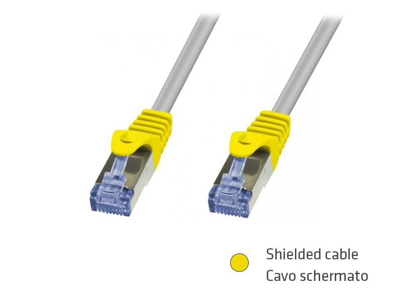 CAVO RETE FTP CAT.6 0,5MT SL SCHERMATO ADJ