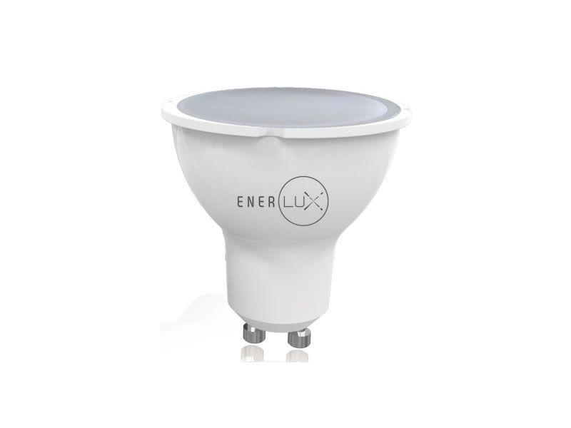 LAMPADINA LED ENERLUX GU10 7W 2800K LUCE CALDA FARETTO LUMEN 550 foto 2