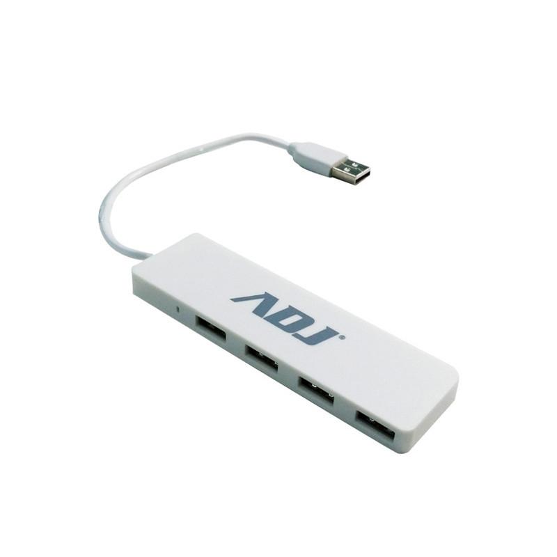 HUB ADJ 4PT USB2.0 TETRA WHITE 143-00017