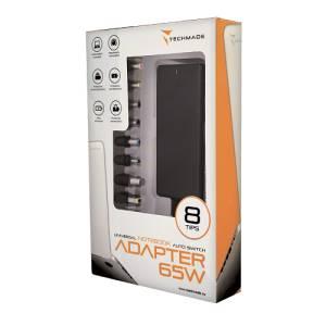 Techmade alimentatore universale notebook 65watt 8 tips