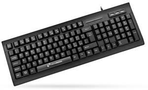 Techmade tastiera usb con hub 3x usb