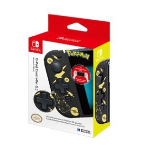 Switch hori d-pad controller (l) pikachu black  golden edition