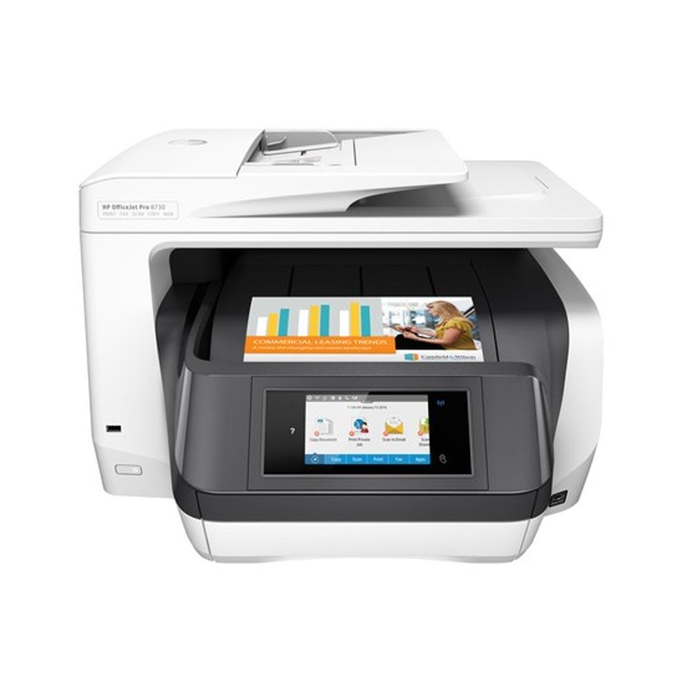 Stampante multifunzione hp officejet pro 8730 inkjet fronte-retro wi-fi lan