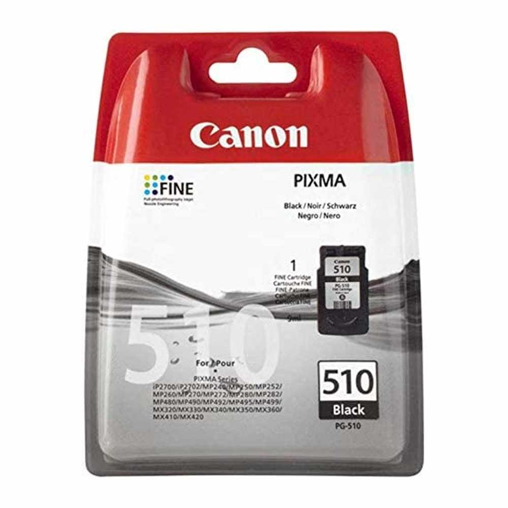 Cartuccia originale Canon PG-510 2970B001 inchiostro nero ad alte prestazioni foto 2