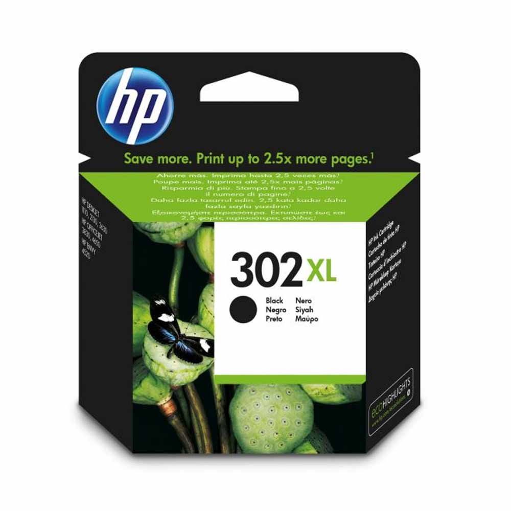 Cartuccia originale HP N302XL inchiostro nero alte prestazioni di stampa F6U68AE foto 2
