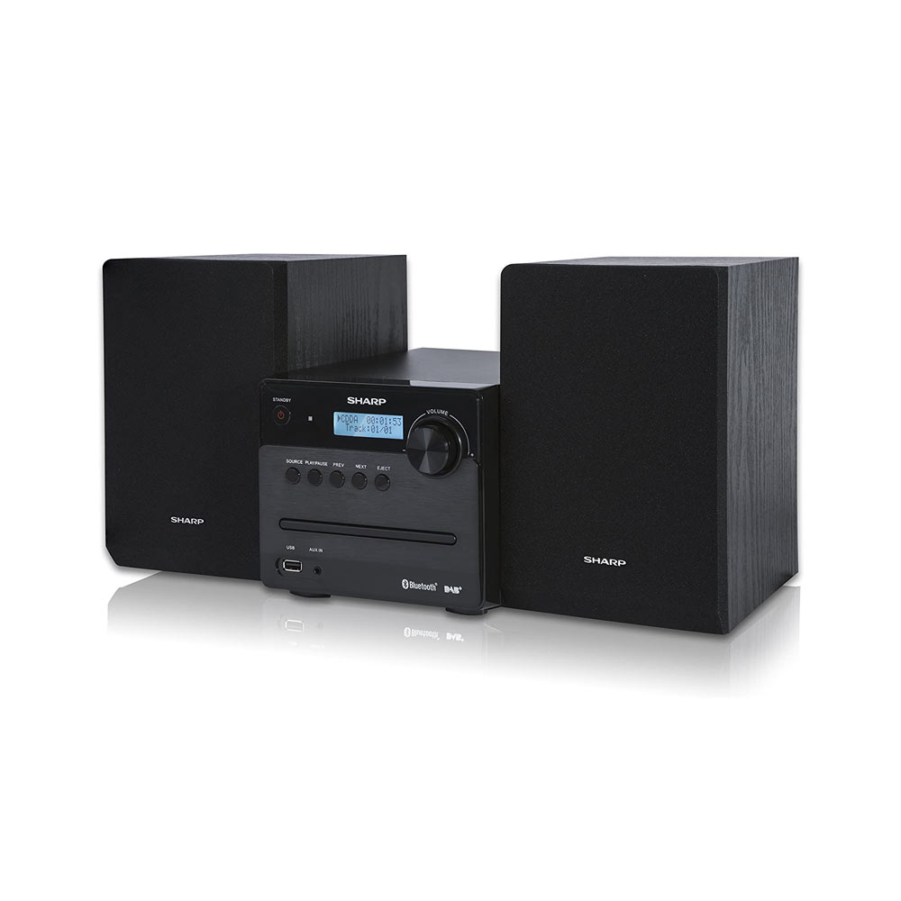Impianto sharp xl-b515d hi-fi, 2 altoparlanti 40w, usb, radio dab, bluetooth, cd