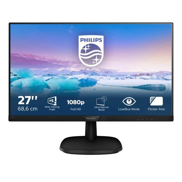 MON 27 IPS VGA HDMI DP VESA MM PHILIPS 273V7QJAB 16:9 1000:1 5MS
