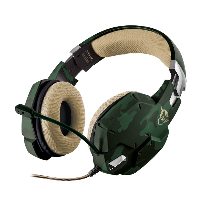 CUFFIE TRUST GXT322C CARUS JUNGLE CAMO GAMING 20865 MULTIPIATTAFORMA