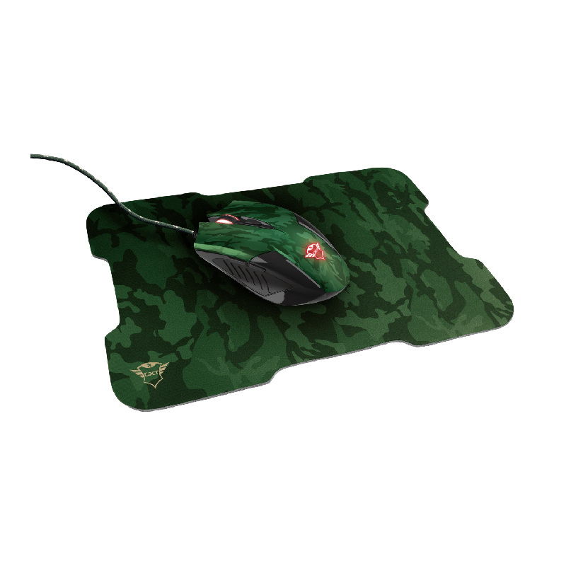 MOUSE TRUST GXT 781 Rixa Camo Gaming Mouse  e  Mouse Pad