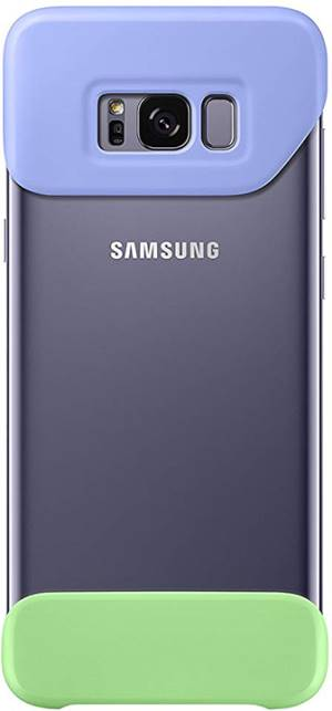 Samsung 2 piece cover s8 plus violet + green