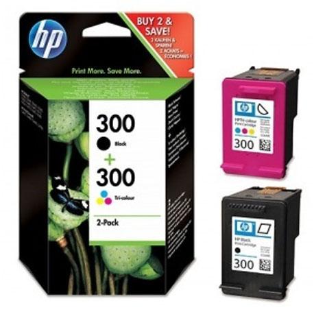 CARTUCCIA ORIGINALE HP CN637EE MULTIPACK BLACK + COLOR  300 CC640EE + CC643EE foto 2