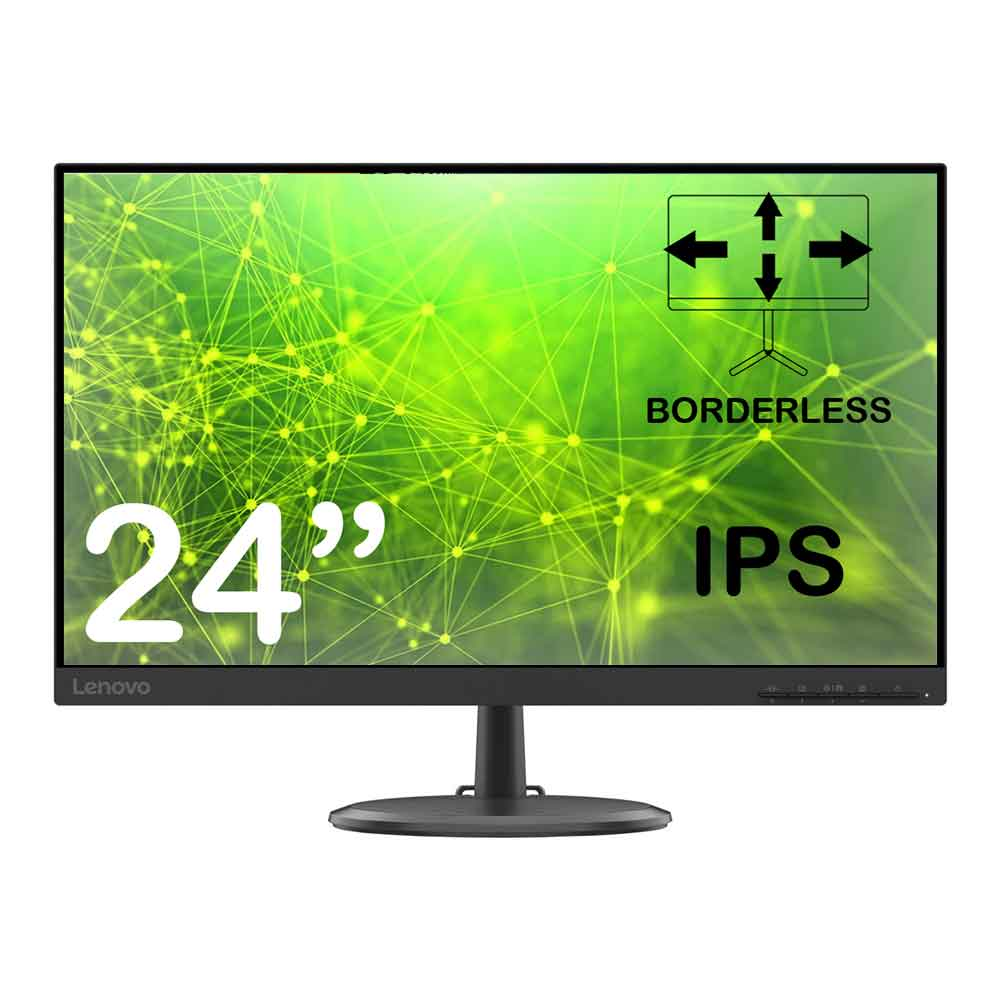 Monitor Lenovo C24-20 24 pollici full hd borderless ips hdmi vga  foto 2