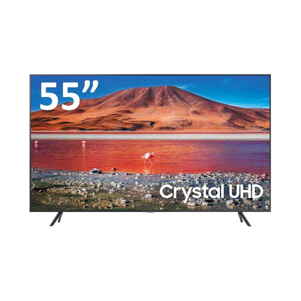 Smart tv samsung crystal uhd 4k 55 pollici tizenos dvb-t2 wi-fi lan