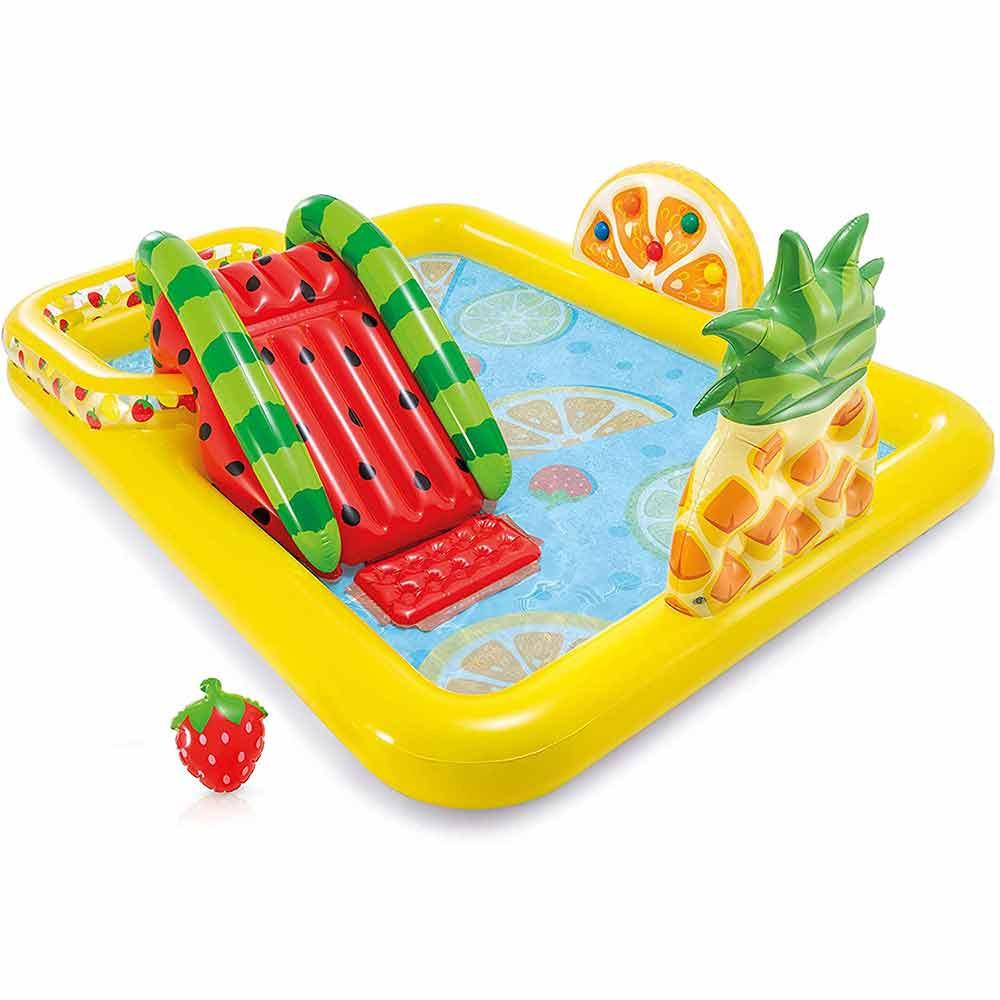 Piscina gonfiabile playcenter frutta parco giochi per bambini intex 57158