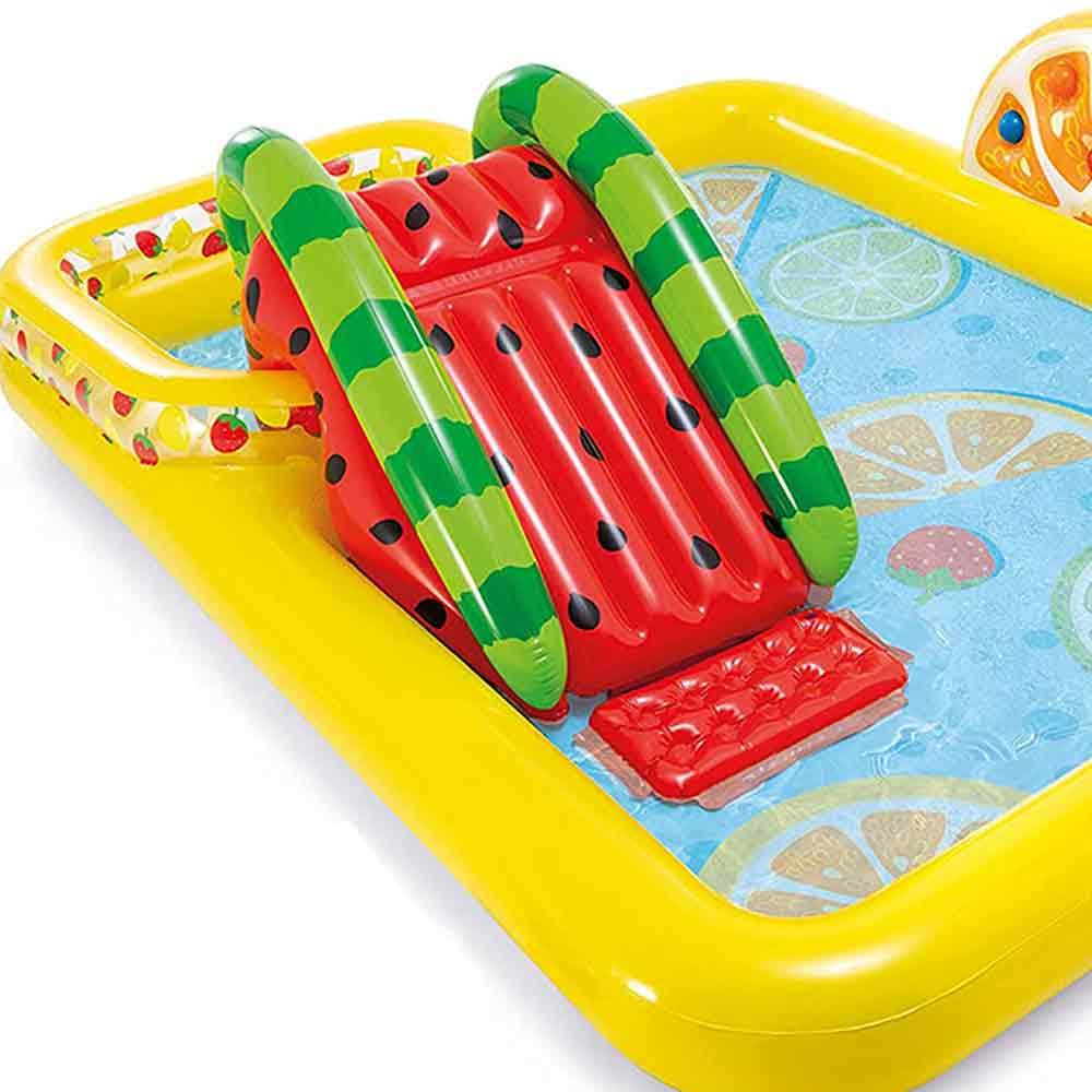 Piscina gonfiabile playcenter frutta parco giochi per bambini intex 57158 foto 3