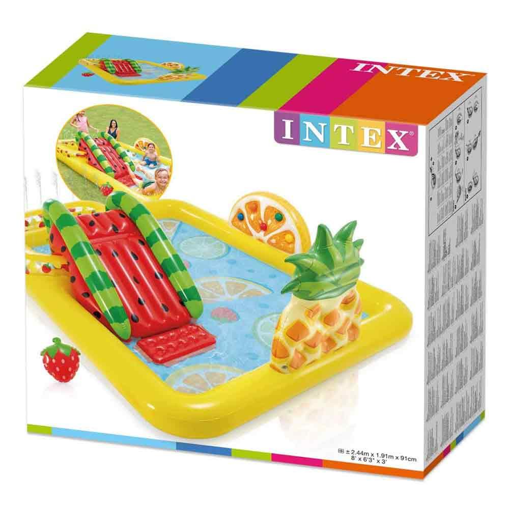 Piscina gonfiabile playcenter frutta parco giochi per bambini intex 57158 foto 4