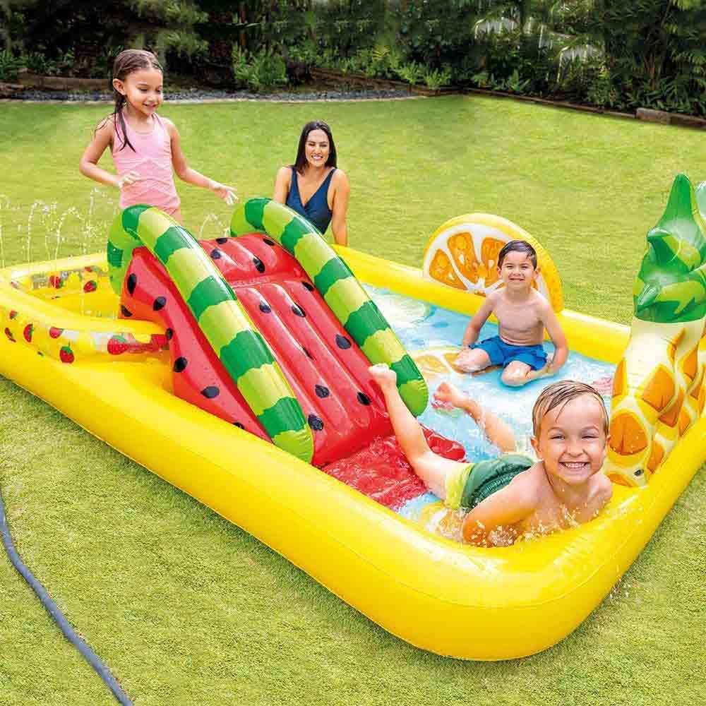 Piscina gonfiabile playcenter frutta parco giochi per bambini intex 57158 foto 5