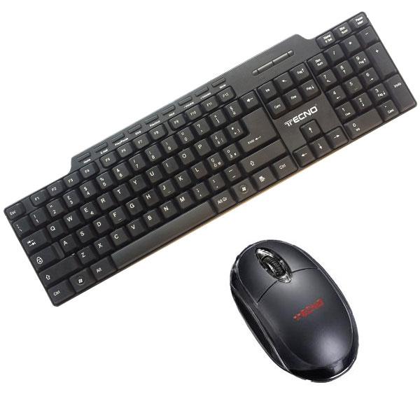 Kit tastiera + mouse con filo